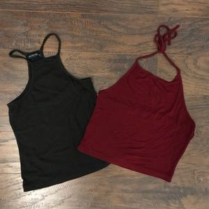 2 Brandy Melville Crop Tops